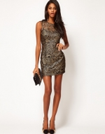 Metallic lace dress from ASOS at Asos