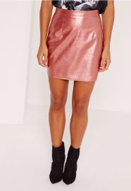Metallic skirt at Missguided