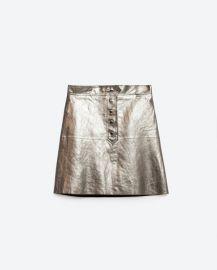Metallic skirt at Zara