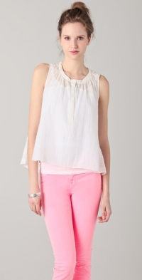 Metallic sleeveless blouse by Rebecca Taylor at Shopbop