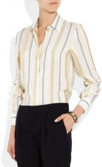 Metallic striped shirt by Stella McCartney at Net A Porter