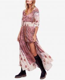 Mexicali Rose Printed Smocked Maxi Dress at Macys
