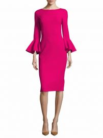 Michael Kors Collection - Wool Bell Sleeve Dress at Saks Fifth Avenue