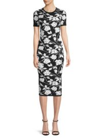 Michael Kors Rose Jacquard Sheath Dress at Saks Fifth Avenue