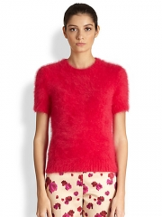 Michael Kors - Short Sleeve Angora-Blend Pullover at Saks Fifth Avenue
