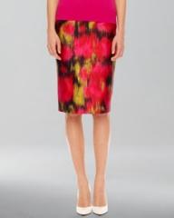 Michael Kors  Printed Shantung Pencil Skirt at Neiman Marcus