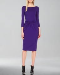 Michael Kors  Twist-Front Jersey Dress at Neiman Marcus