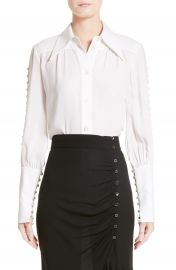 Michael Kors Button Sleeve Silk Blouse at Nordstrom