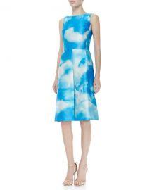 Michael Kors Cloud-Print Dress at Neiman Marcus