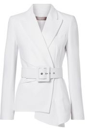 Michael Kors Collection   Belted asymmetric crepe blazer at Net A Porter