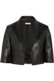 Michael Kors Collection   Cropped leather jacket at Net A Porter