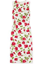 Michael Kors Collection   Floral-print stretch-cady dress at Net A Porter