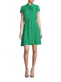 Michael Kors Collection - Polka Dot Silk Flutter-Sleeve Shirtdress at Saks Fifth Avenue