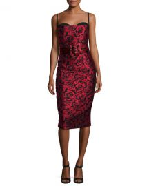 Michael Kors Collection Rose Jacquard Sleeveless Cocktail Dress at Neiman Marcus