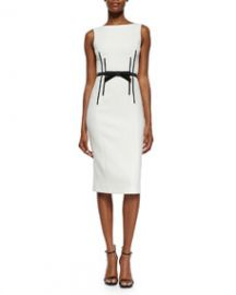Michael Kors Collection Sleeveless Sheath Dress wBow Belt at Neiman Marcus