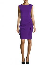 Michael Kors Draped Sheath Dress Grape at Neiman Marcus
