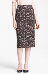 Michael Kors Guipure Print Stretch Cady Pencil Skirt at Nordstrom