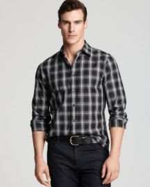 Michael Kors Jett Check Button Down Shirt - Slim Fit at Bloomingdales