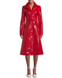 Michael Kors Lamb Leather Midi Princess Coat at Bergdorf Goodman
