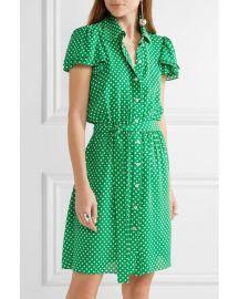 Michael Kors Polka-Dot Silk-Georgette Mini Dress at Net A Porter