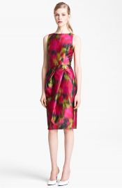 Michael Kors Zinnia Print Shantung Dress at Nordstrom