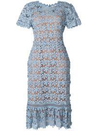 Michael Michael Kors Floral Lace Midi Dress at Farfetch