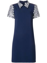 Michael Michael Kors Floral Sequined Collared Shift Dress at Farfetch