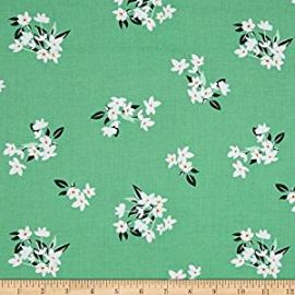 Michael Miller Bed of Roses Lily-Of-The-Valley Jade Fabric By The Yard at Amazon