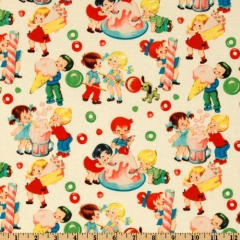 Michael Miller Retro Candy Shop Fabric at Amazon