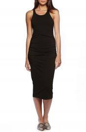 Michael Stars Ruched Side Racerback Midi Dress at Nordstrom