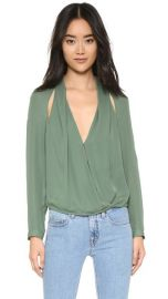 Michelle Mason Blouse with Slit at Shopbop