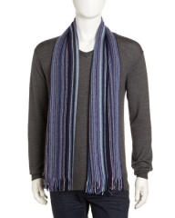 Micro Stripe Scarf at Last Call