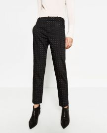 Mid-Rise Skinny Trousers at Zara