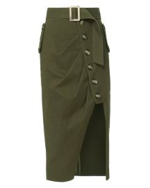 Military Button Down Skirt at Intermix