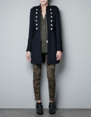 Military Coat at Zara