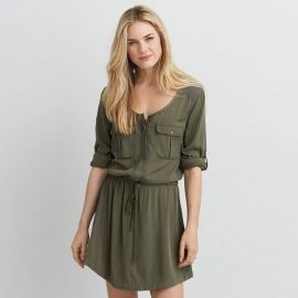 Military Shirtdress at American Eagle