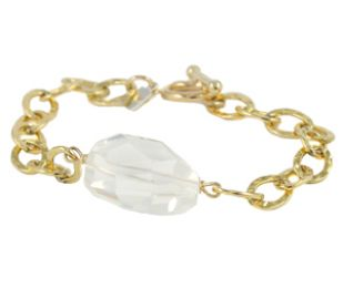 Milk Quartz Bracelet at Peggy Li
