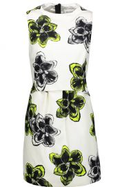 Milly Astrid floral-print cotton-blend mini dress at The Outnet
