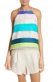 Milly Stripe Trapeze Camisole at Nordstrom