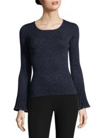 Milly - Metallic Rib Sweater at Saks Fifth Avenue