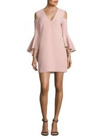 Milly - Nicole Cold-Shoulder Bell Sleeve Dress at Saks Fifth Avenue