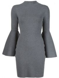Milly Bell Sleeves Fitted Dress at Farfetch