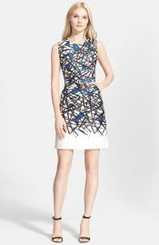 Milly Coco Abstract Print Dress in Blue at Nordstrom