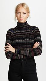 Milly Metallic Stripe Pullover at Shopbop