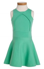 Milly Minis Pleated Flare Dress at Nordstrom