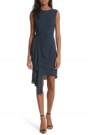 Milly Rachael Front Drape Dress at Nordstrom