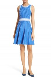 Milly Ribbed Knit Fit   Flare Dress at Nordstrom