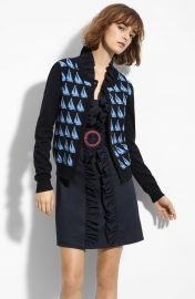 Milly Sailboat Jacquard Cardigan at Nordstrom