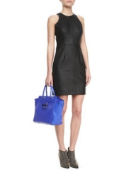Milly Snake-Embossed Racerback Dress at Neiman Marcus