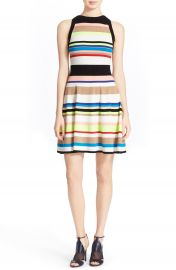 Milly Stripe Knit Fit   Flare Dress at Nordstrom